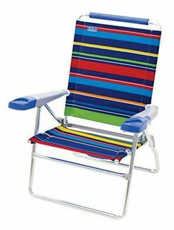 "Rio Beach 15"" Extended Height 4 Position Folding Beach Chair"