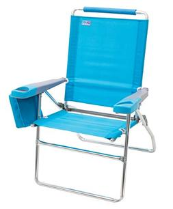 "Rio Beach 17"" Extended Height 4 Position Folding Beach Chair"