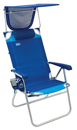 "Rio Beach Hi-Boy High Seat 17"" Folding Beach Chair With Cano"