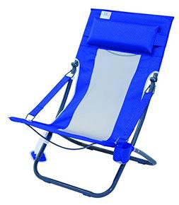 Rio Beach Portable Compact Fold Breeze Beach Sling Chair, Bl