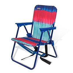 Copa Beach Tie Dye Pink Child Beach Chair with backpack stra
