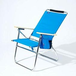 Big Tycoon 4-Position Aluminum Beach Chair, Light Blue Sport