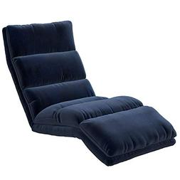 Ilunar Home Blue Chaise Lounge Chair Small Size with Memory