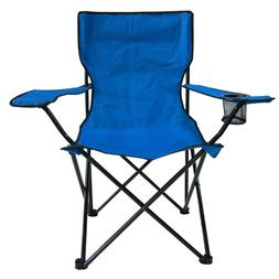 Blue Folding Camping Chair Outdoor Beach Camping Patio with