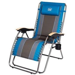 Blue Solid Chair Oversize XL Padded 350lbs Support Heavy Dut
