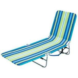 RIO BRANDS BPL-1616 BACKPACK FOLDING LOUNGER, STEEL, MULTICO