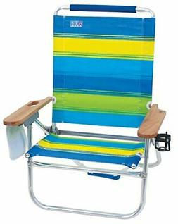 Rio Brands Bright Wide Stripe Bum Beach Chair