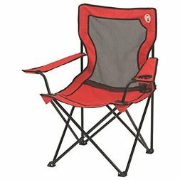 COLEMAN Broadband Camping Folding Quad Chair w/ Mesh Back &