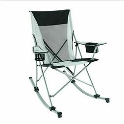 Camp Rocking Chair Oversized Folding Patio Lawn Reclining Ca