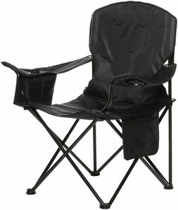 AmazonBasics Camping Chair with Cooler, Black  - XL