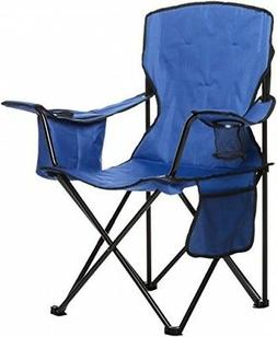 AmazonBasics Camping Chair with Cooler, Blue