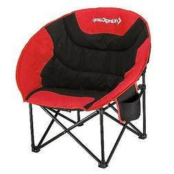 Camping Chair Padded Soccer Games Picnics Beach Patio Cup Ho