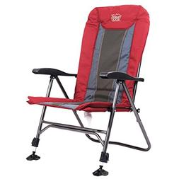 Timber Ridge Camping Chair Folding Heavy Duty with Adjustabl
