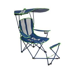 Kelsyus Original Canopy Chair with Ottoman - Navy/Lime 80346
