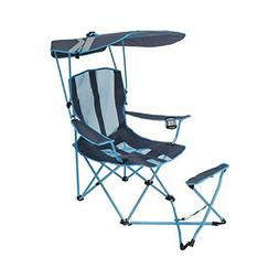 Kelsyus Original Canopy Chair w/Ottoman, Blue Grey