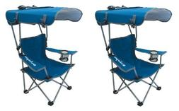 Kelsyus Kids Original Canopy Folding Backpack Chair Blue by