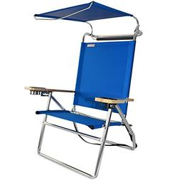 Canopy Hi-Seat Aluminum Beach Chair - Pacific Blue