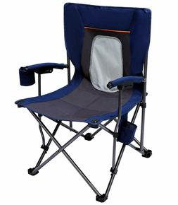 Chair folding portable with cup holder pocket for camping,hi