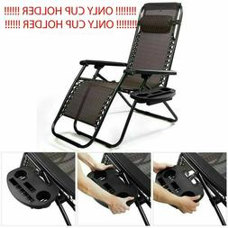 Chair Lawn Black Cup Holder For Zero Gravity Patio Lounge Po
