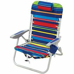 Chairs Rio Beach Lace-up Aluminum Backpack Chair, Red/Blue/G