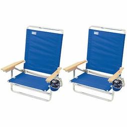 RIO Brands Classic 5 Position Lay Flat Folding Beach Lounge
