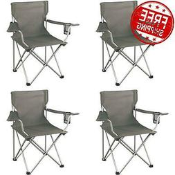 Ozark Trail Classic Folding Camp Chairs, with Mesh Cup Holde