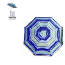 Clip On Beach Chair Umbrella - Retro/Vintage 4-Color Clip-On