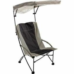 Quik Shade Pro Comfort Folding High Camp Chair - Black/White