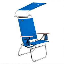 Copa 4 Position Big Tycoon Canopy Reclining Beach Chair with