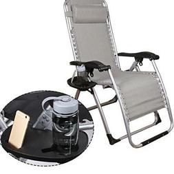 Cup Holder Zero Gravity Lounge Patio Chair Tray For Outdoor
