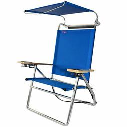 Deluxe 4 position High Seat Aluminum Canopy Beach Chair with