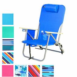 Deluxe 4 position Steel Backpack Chair with Drink Holder & S