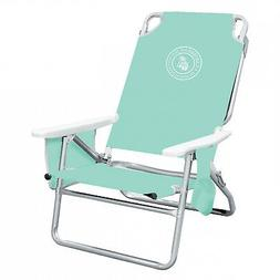Caribbean Joe Deluxe 5-Position Beach Chair With Carrying St