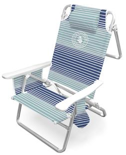 deluxe 5 position beach chair with carrying