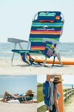 Tommy Bahama Deluxe Backpack Beach Chair, 5-positions, Lays