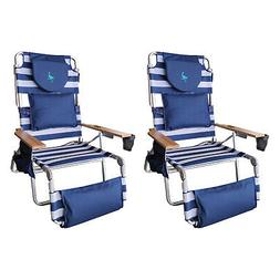 Ostrich Deluxe Padded 3-N-1 Outdoor Lounge Reclining Beach C