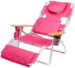 Ostrich Deluxe Padded Sport 3-in-1 Aluminum Beach Chair, Pin