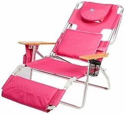 Ostrich Deluxe Padded Sport 3-in-1 Aluminum Beach Chair Pink