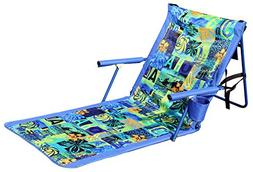 Leader Accessories Deluxe Portable Reclining Lounger Beach C