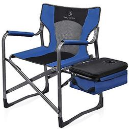 ALPHA CAMP Directors Chair Oversize Support 300 lbs Folding