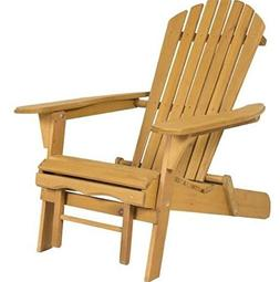 New Elegant Adirondack Outdoor Wood Chair Folding Wooden wit