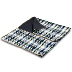 Picnic Time English Plaid Outdoor Blanket Tote
