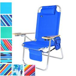 Extra Large Heavy Duty Beach Chair 17 inches Seat Height, 30