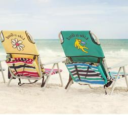 Life Is Good Foldable Beach Chair with Matching Bag, 2 Color