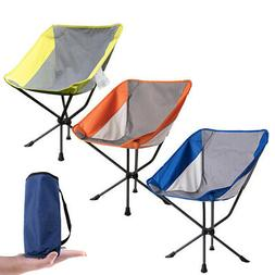 Foldable Compact Camping Chair Outdoor Beach Fishing Seat Lo