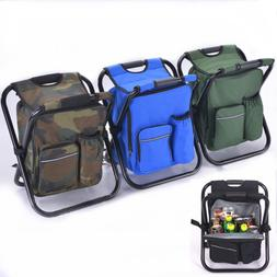 Foldable Multi-Function Backpack Beach Chair With Cooler Bag