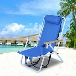Folding Backpack Beach Chair With Cup Holder
