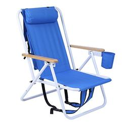 ALTERDJ Folding Backpack Beach Chair With Cup Holder Portabl