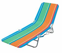 Folding Backpack Beach Lounge Chair with Backpack Straps and