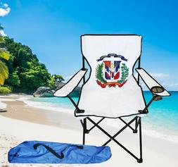 Folding Beach Camping Chair With Carrying Bag  and Cup Holde